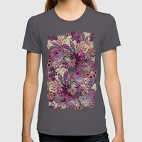 Vernal Rising Womens Fitted Tee Asphalt SMALL