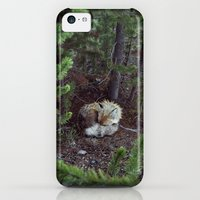 iPhone 5c Cases featuring Sleeping Fox by Kevin Russ