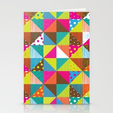 Crazy Squares Stationery Cards