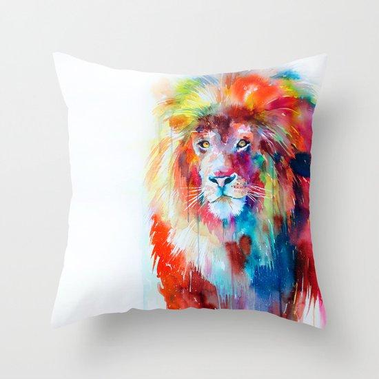 Throw Pillow Covers Society6 : Lion Throw Pillow by Slaveika Aladjova Society6