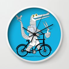 The Crococycle Wall Clock