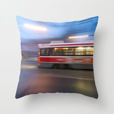 Steel in Motion Throw Pillow