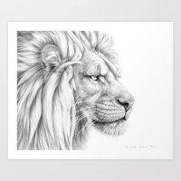 Lion's mane G006 Art Print