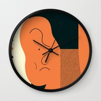 Angry talking makes the ear cranky Wall Clock