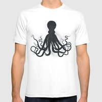 Octopi Mens Fitted Tee White SMALL
