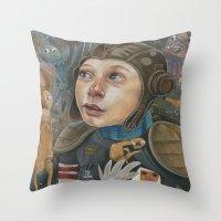 IMAGINARY ASTRONAUT Throw Pillow