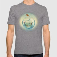 Goldfish Bowl Mens Fitted Tee Tri-Grey SMALL