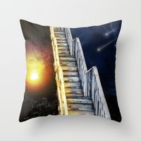 Stairway To.... U Guess!… Throw Pillow