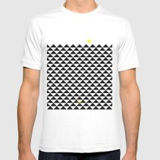 The Triangle Experiment SMALL White Mens Fitted Tee