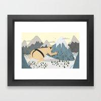 Oyama Fights The Mountain Framed Art Print