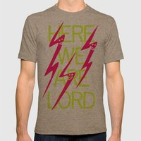 Lightning Speaks Mens Fitted Tee Tri-Coffee SMALL