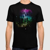 time traveller v2 Mens Fitted Tee Black SMALL