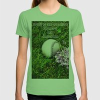First Day Of Spring Womens Fitted Tee Grass SMALL