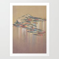 Fading Into Light Colors Art Print