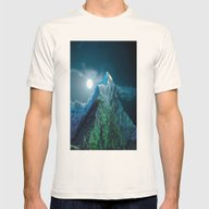 Night Mountains No. 21 Mens Fitted Tee Natural SMALL