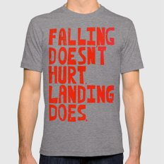 Falling Mens Fitted Tee Tri-Grey SMALL