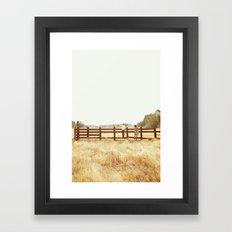 Fence Standing Framed Art Print