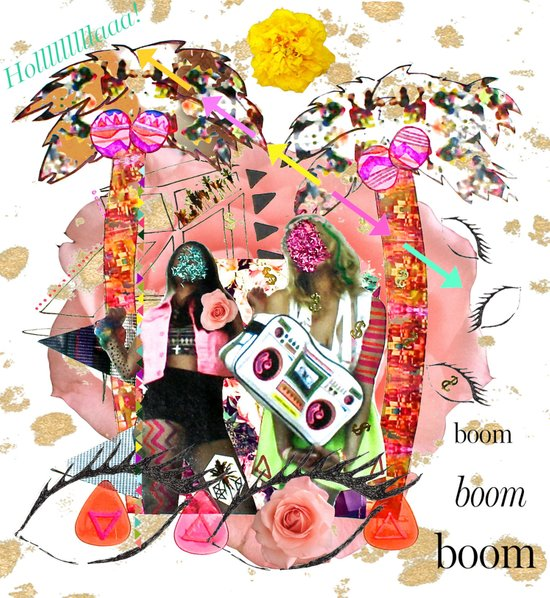 Rose-tinted Lashes In The Boom Boom Room Art Print