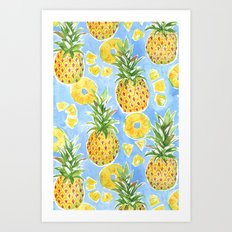 Pineapple Summer Art Print