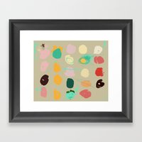 Tops Of Ice Cream Cones … Framed Art Print