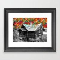 Cabin in the Woods Framed Art Print