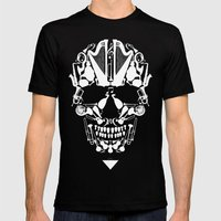 MUSICAL SKULL Mens Fitted Tee Black SMALL