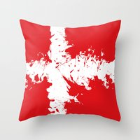 in to the sky, Denmark  Throw Pillow