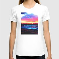 Scenic Shoreline Sunrise Womens Fitted Tee White SMALL