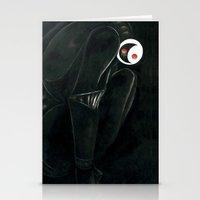Moonbot #0: Black Stationery Cards