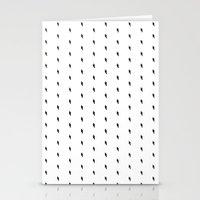 lightning bold pattern Stationery Cards