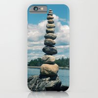 iPhone & iPod Case featuring Leaning Tower of Pebbles by Ian James