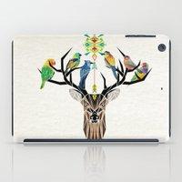 deer birds iPad Case