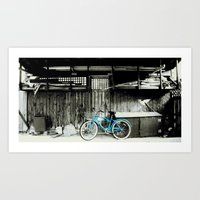 Blue Bike Series 3.1 Art Print