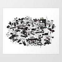 PACHAMAMA - BLK Art Print