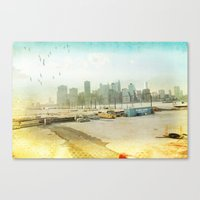 View From The Docks _ Ne… Canvas Print