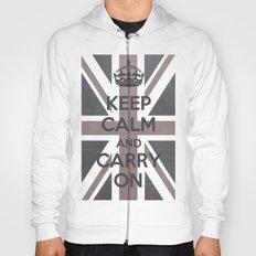 Keep Calm and Carry On UK - Purple/Grey Hoody