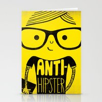 Anti-hipster - yellow Stationery Cards