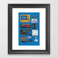 SErvice GAme History Framed Art Print