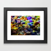 Flower Collage Framed Art Print