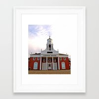 Framed Art Print featuring Lakewood Historic Theatre by Vorona Photography