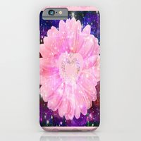 Pink flower with sparkles  iPhone 6 Slim Case