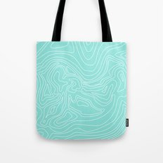 Ocean depth map - turquoise Tote Bag