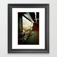 The Fruit Stand Framed Art Print