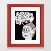 with your eyes closed Framed Art Print