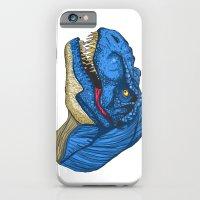 Felling Blue T-Rex - Dinosaur  iPhone 6 Slim Case