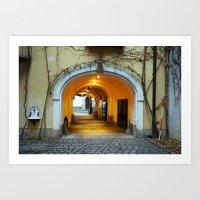 Vienna Passageway Art Print