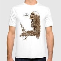 Laughing Skull Mens Fitted Tee White SMALL
