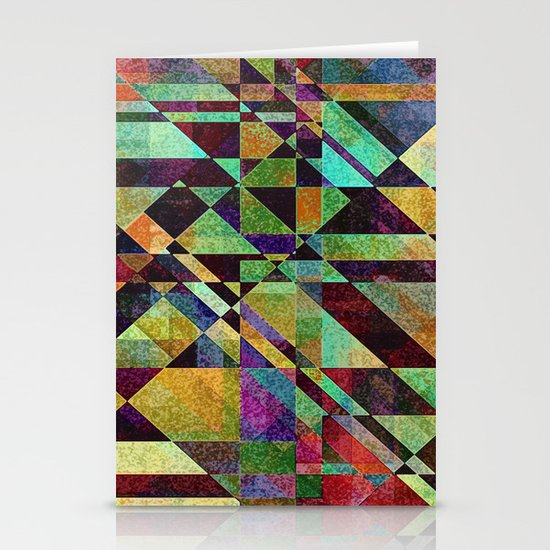 Fault Lines Stationery Card
