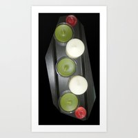 just some candles Art Print