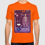 BREAKING BAD ACTION FIGU… Mens Fitted Tee Orange SMALL